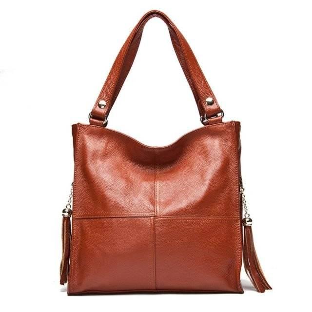 Genuine Leather Shoulder Bag for Women