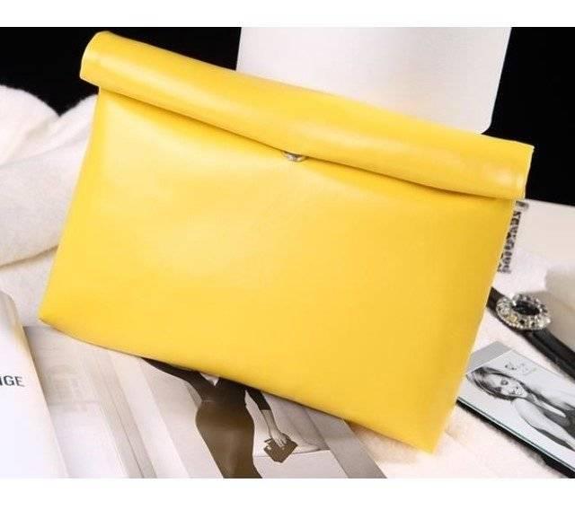 Women's Oil Eco-Leather Clutch