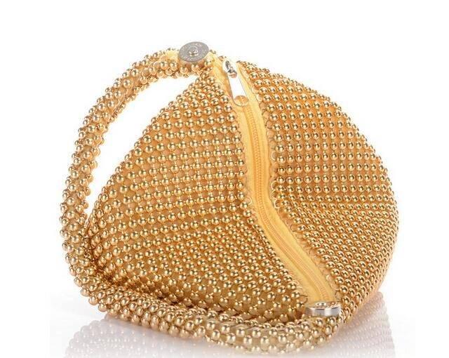 Women's Elegant Beaded Wristlet