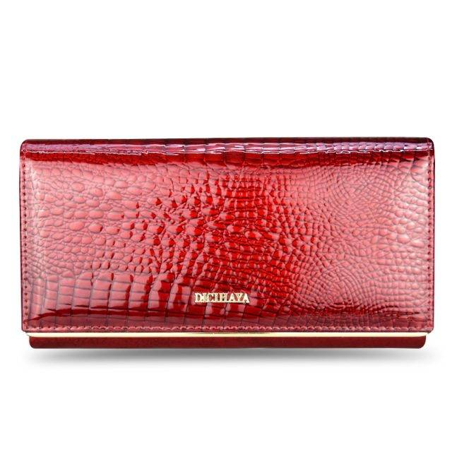 Exquisite Crocodile Skin Patterned Leather Women's Wallet