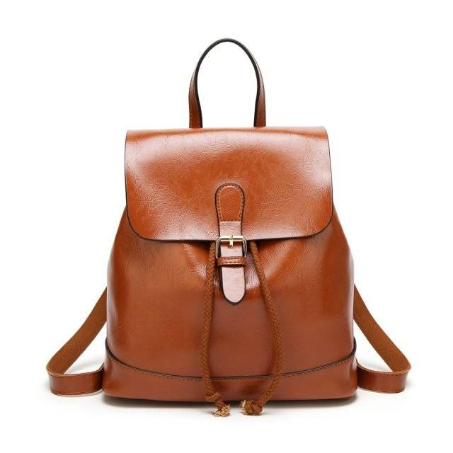 Fashion Solid Women's PU Leather Backpack