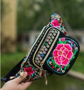 Women's Embroidered Waist Pack