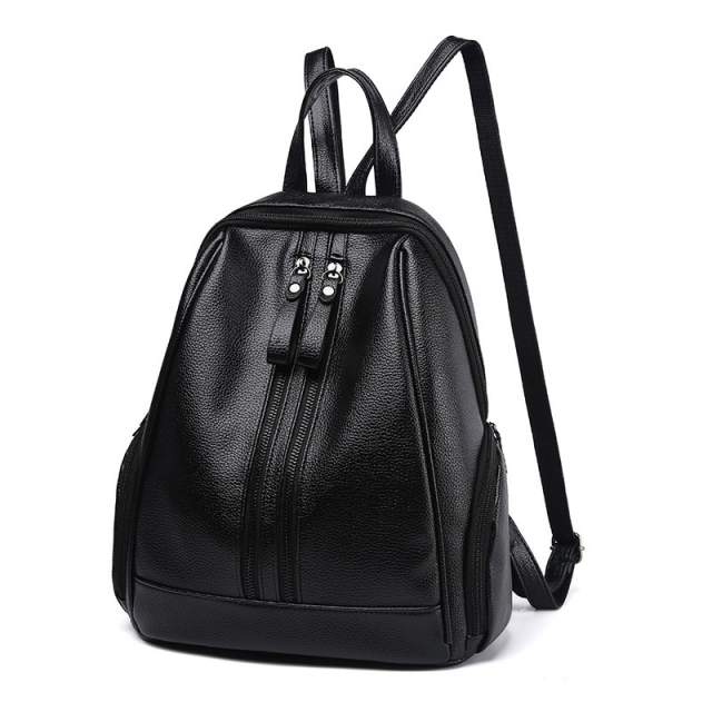 Compact Solid Color Backpack