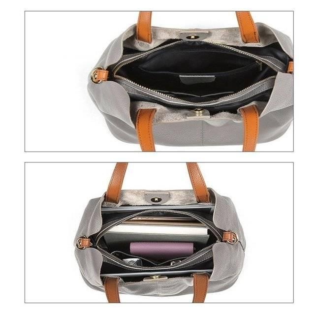 Women's Leather Large Capacity Handbag