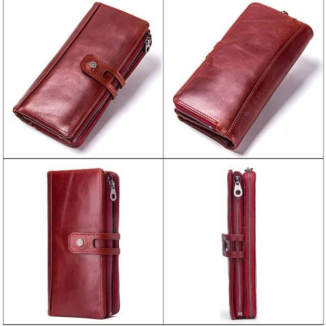 Spacious Genuine Leather Wallet for Women