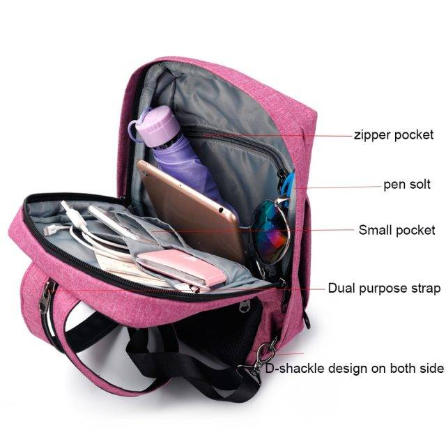 Women's 2 in 1 Compact Design Backpack