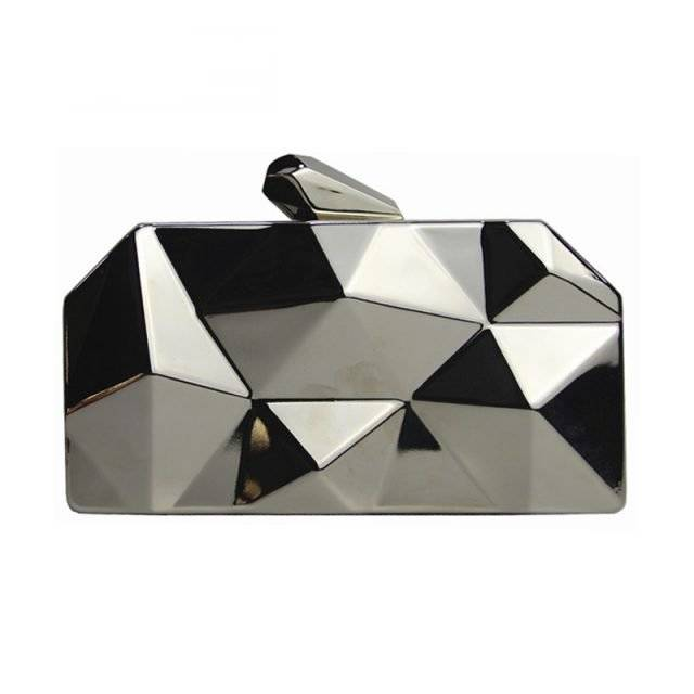 Fashion Women's Geometric Irregular Clutch