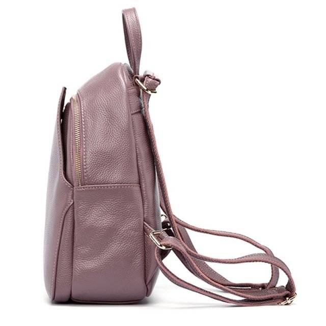 Elegant Colorful Women's Genuine Leather Laptop Backpack