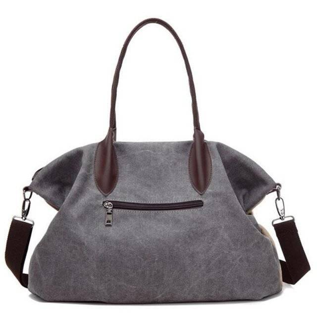 Women's Casual Canvas Top-Handle Bag