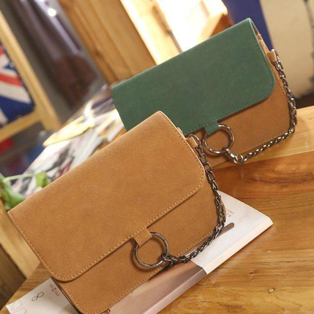 Women's PU Leather Flap Bag