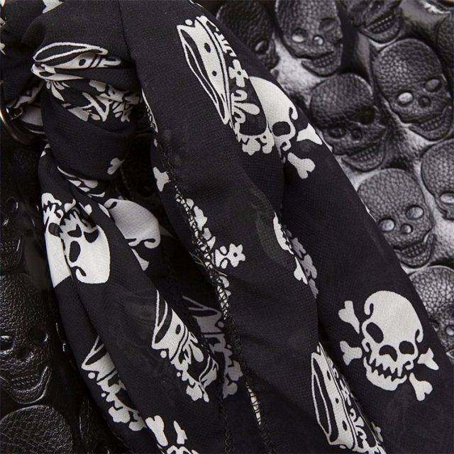 Women's Vintage Skull Bucket Bag