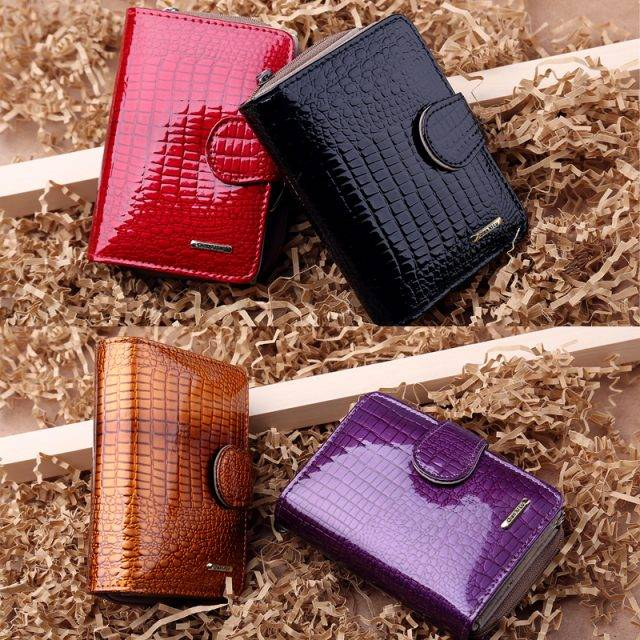 Luxury Compact Patent Leather Women's Wallet