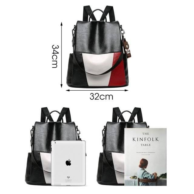 Fashion Anti-Theft Women's PU Leather Backpack