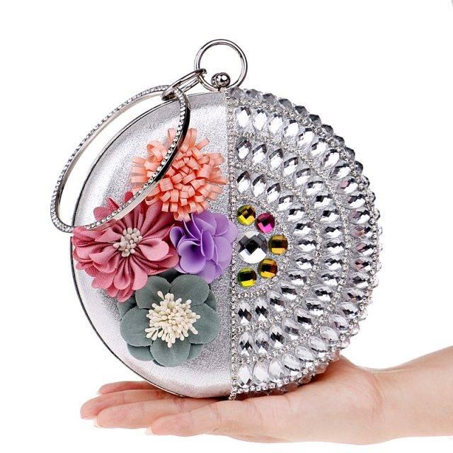 Women's Floral Round Evening Bag